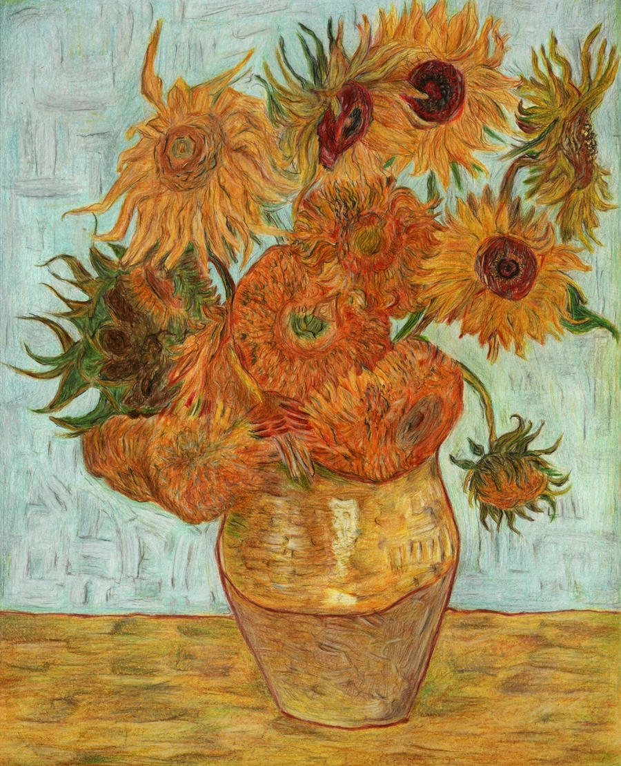 Van Gogh s Sunflowers by Vincent Van Gogh Doctor Who Sunflowers