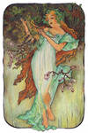 Mucha's Seasons - Spring