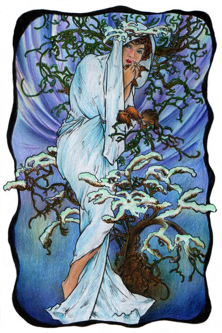 Mucha's Seasons - Winter by AnnaSulikowska