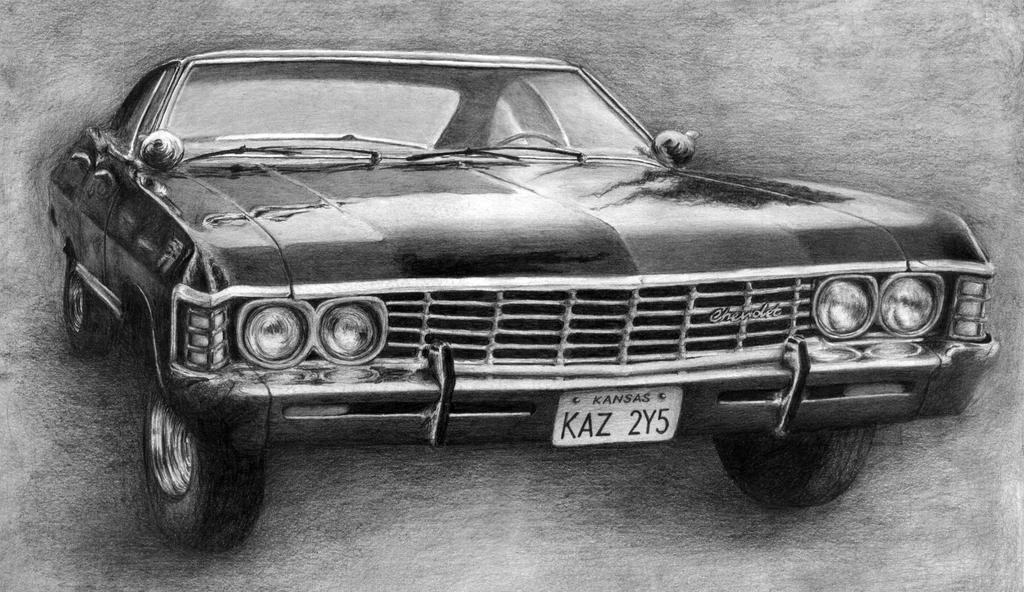 supernatural chevy impala 1967 by annasulikowska on deviantart. Black Bedroom Furniture Sets. Home Design Ideas