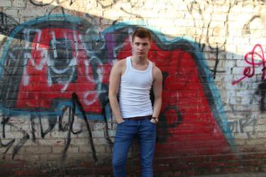 boy graffiti wall by sergekrivoshei