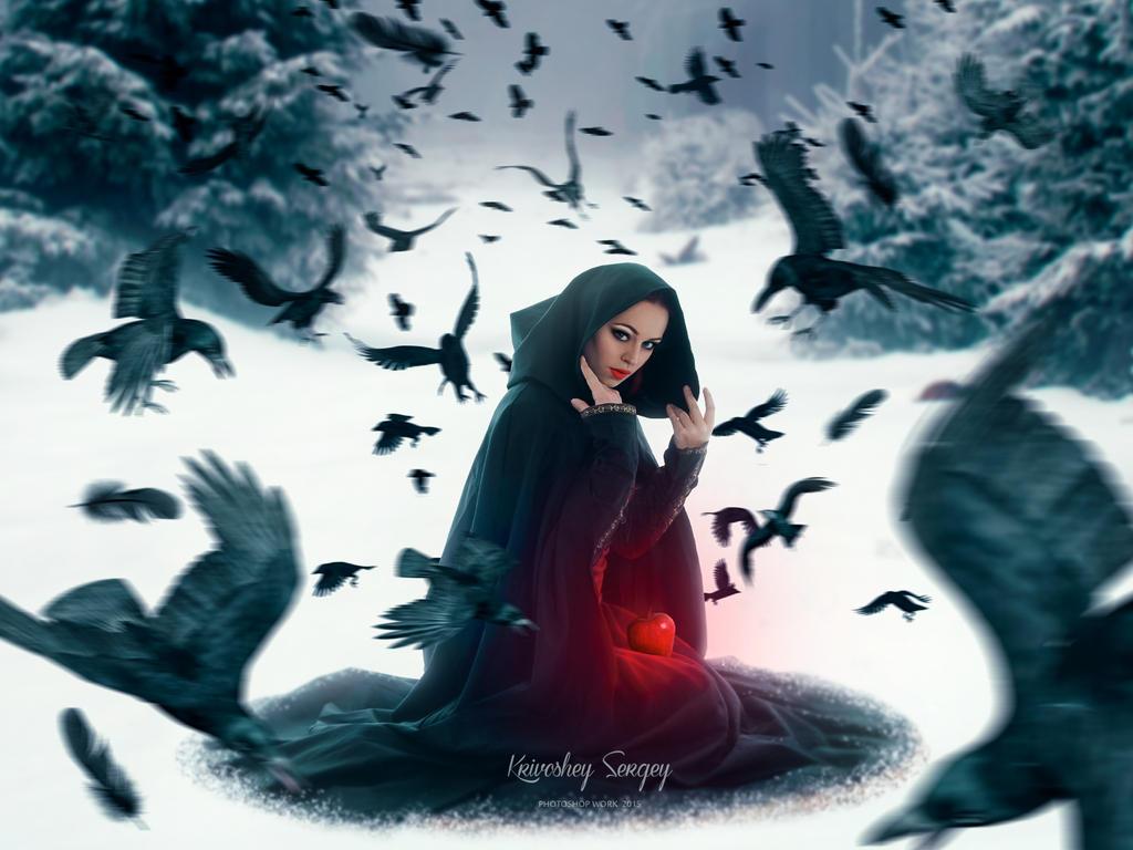 Apple for Snow White by sergekrivoshei