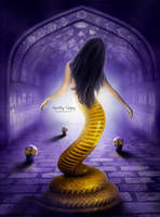 Snake Girl by sergekrivoshei
