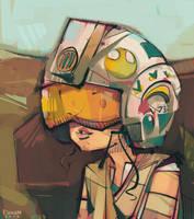 Rey, Helmet Edition by michaelfirman