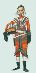 Rebel Pilot Rey by michaelfirman