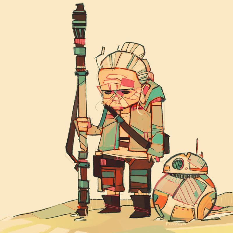 Rey-a-Day 79 Old Rey by michaelfirman