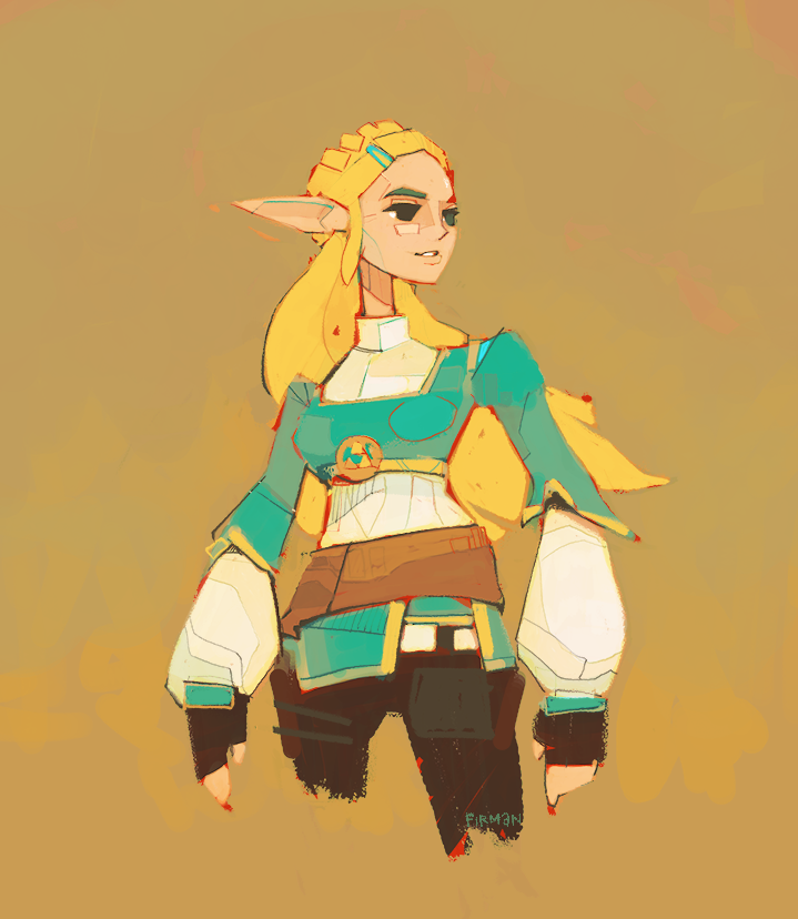 Zelda from Breath of the Wild by michaelfirman