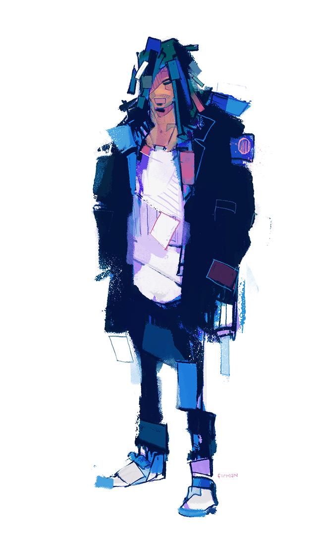 Guy in a coat by michaelfirman