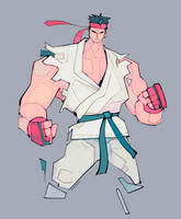 Ryu the Street Fighting Fighter Man by michaelfirman