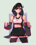 Tifa and Blocky Forearms