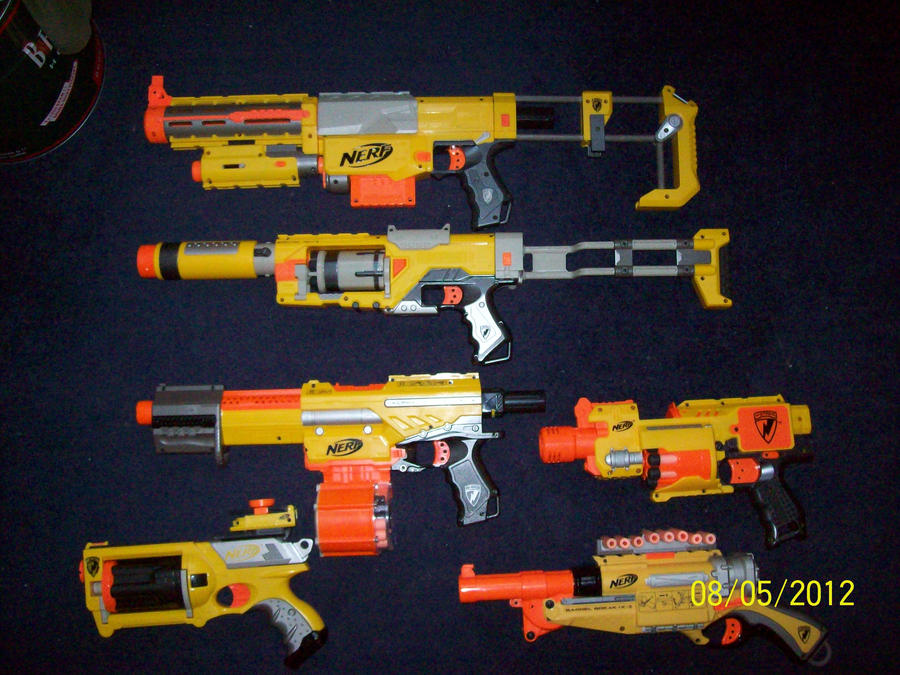 my collection of nerf guns by 00j666 on deviantart