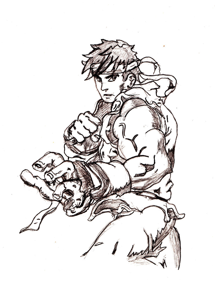 ryu drawing by melaniebrown on deviantart
