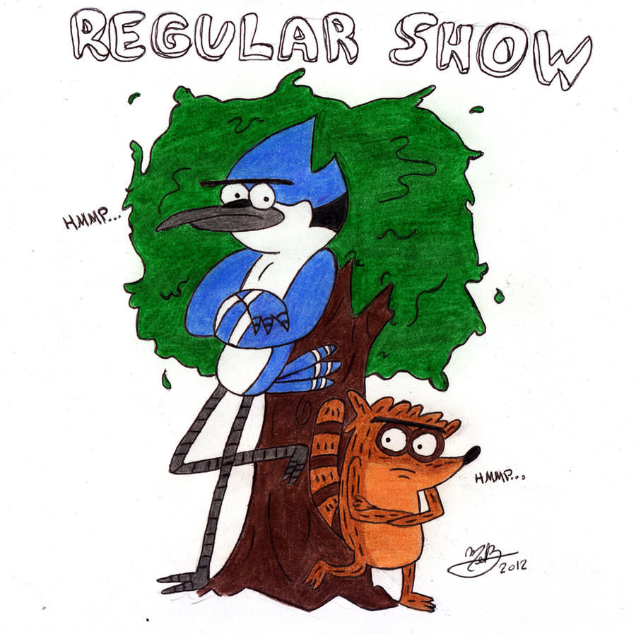 Mordecai and Rigby by MelanieBrown