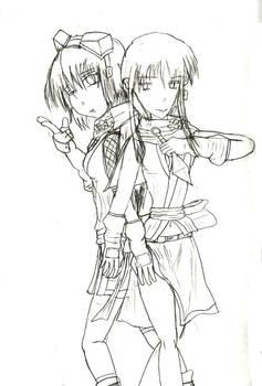 Izuna + Shino sketch