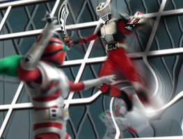 KR- Ryuki vs ZX by KYQ