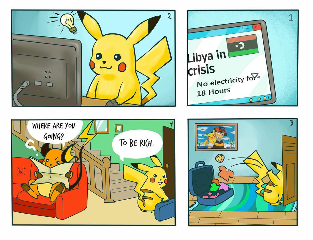 Pikachu finds a Job by tutuleno