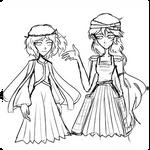 I drew too large so I'm not finishing this