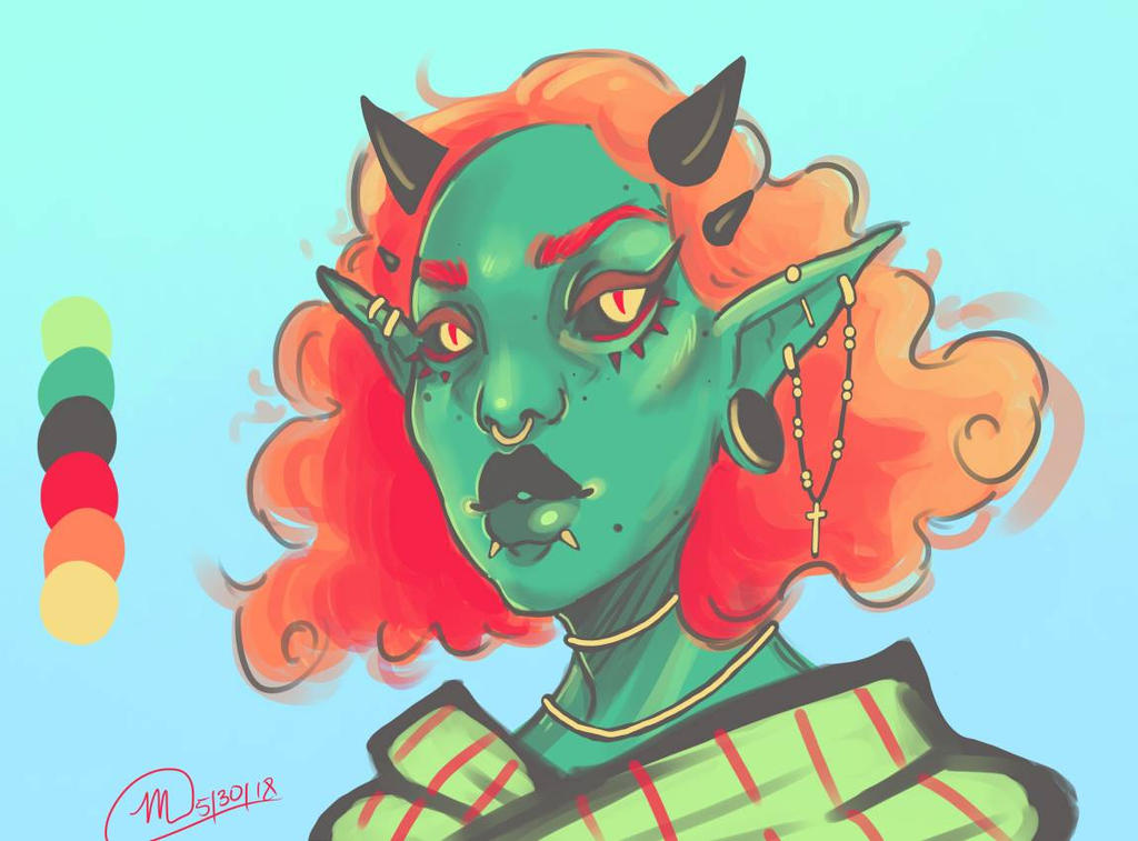Fiery Greens by MeganMoreOrLess