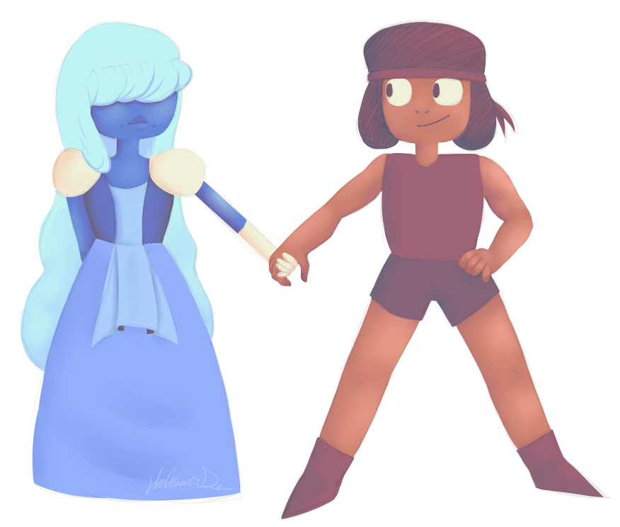 Ruby And Sapphire by Hollow-Dew