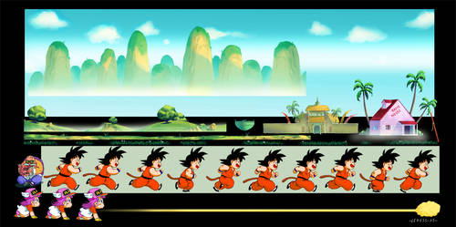 Goku 2D animation