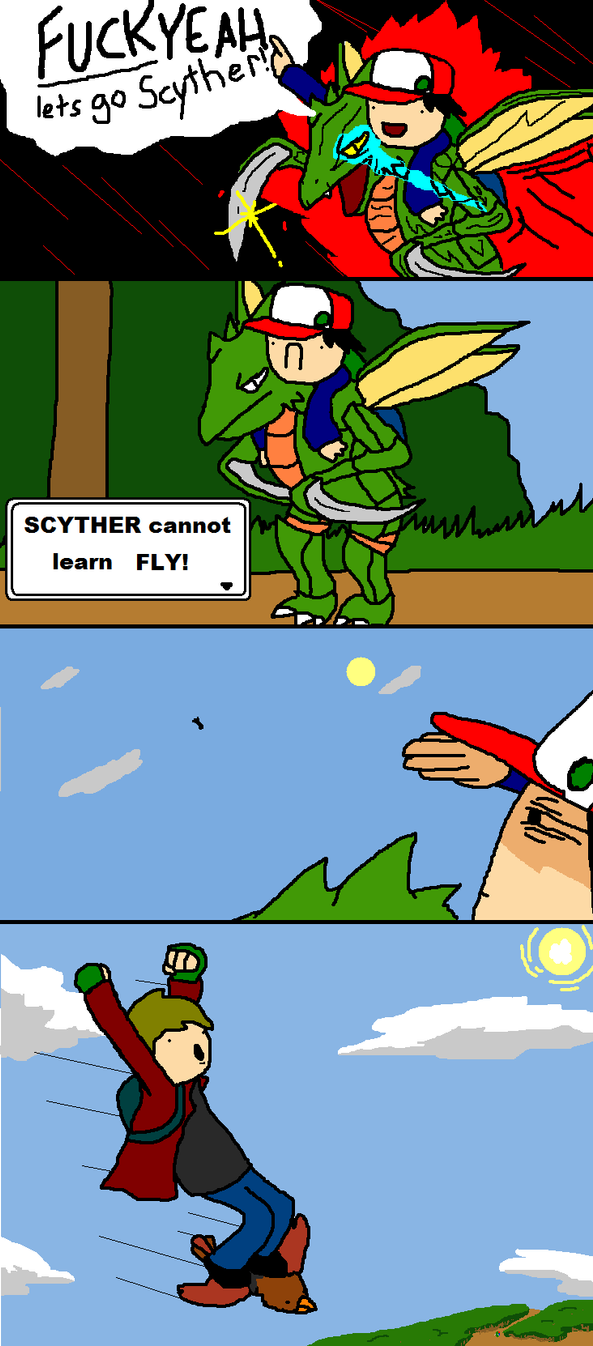 Scyther can not learn Fly by PaintFag