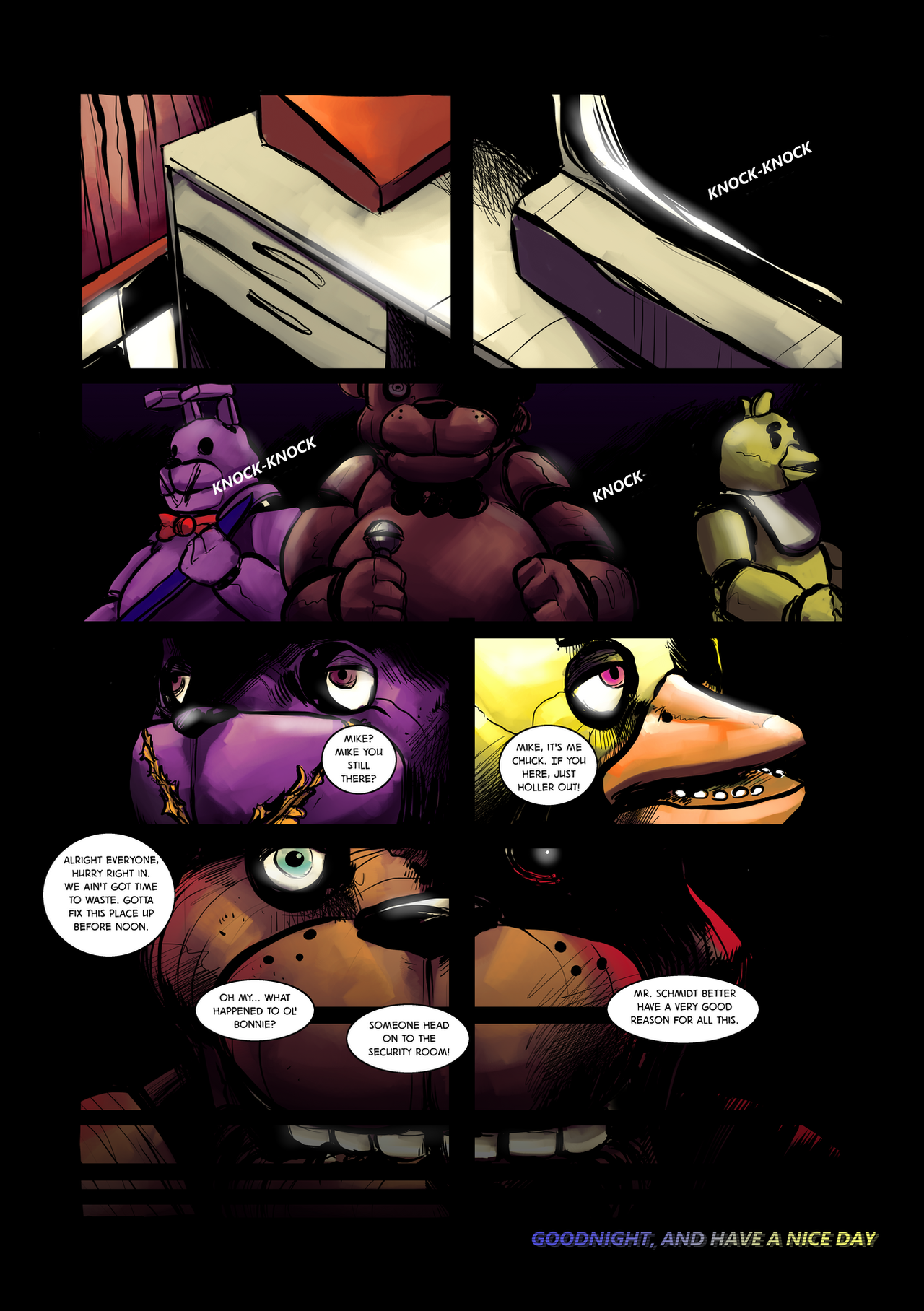Five nights at freddy s day and night page 23 by eyeofsemicolon on