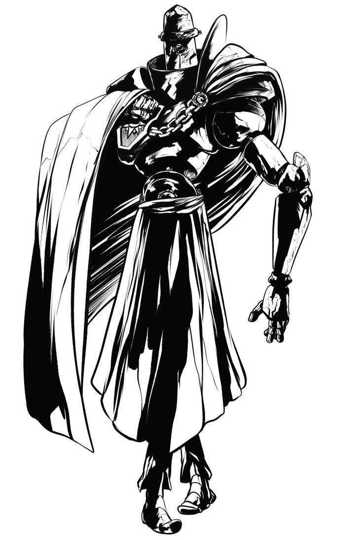 Bot knight doodle by EyeOfSemicolon