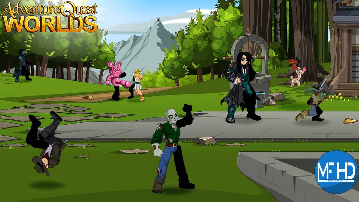 Adventure Quest Worlds Desktop Background by MrFidinkadinkHD on