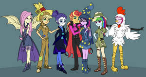 Equestria Girls Hallows' Eve by VerumTee