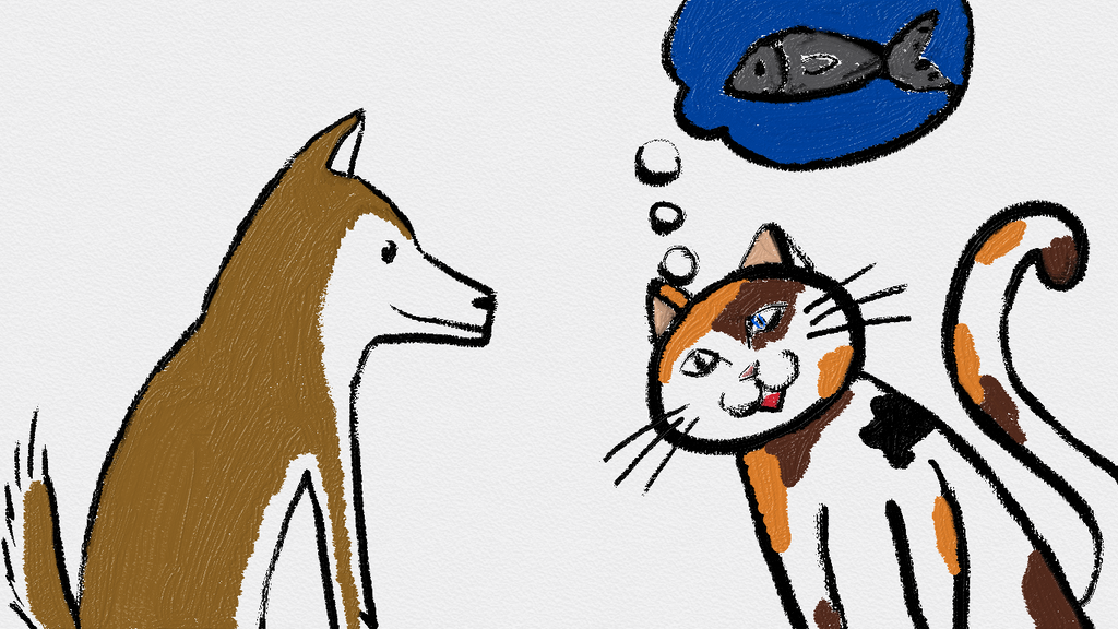Cat And Dog by blackbluecat777 on DeviantArt