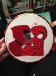 Spidypool Embroidery Hoop