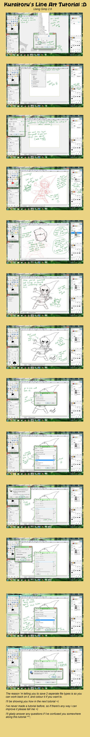 Line Art In Gimp : Gimp tutorial line art by kuraitoru on deviantart
