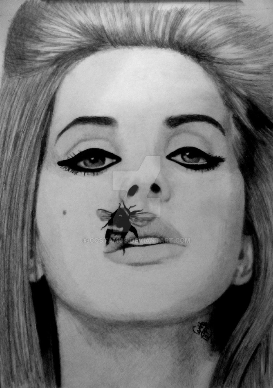 Lana Del Rey Portrait by costamos on DeviantArt