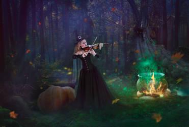Halloween night by LenaSunny