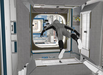 Starman in ISS_03 by SpacePozzolo