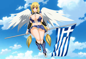 Commission: Astraea with Greek flag