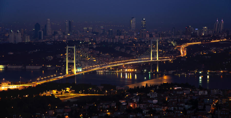 Istanbul view from Camlica Hill by gordini19 on DeviantArt