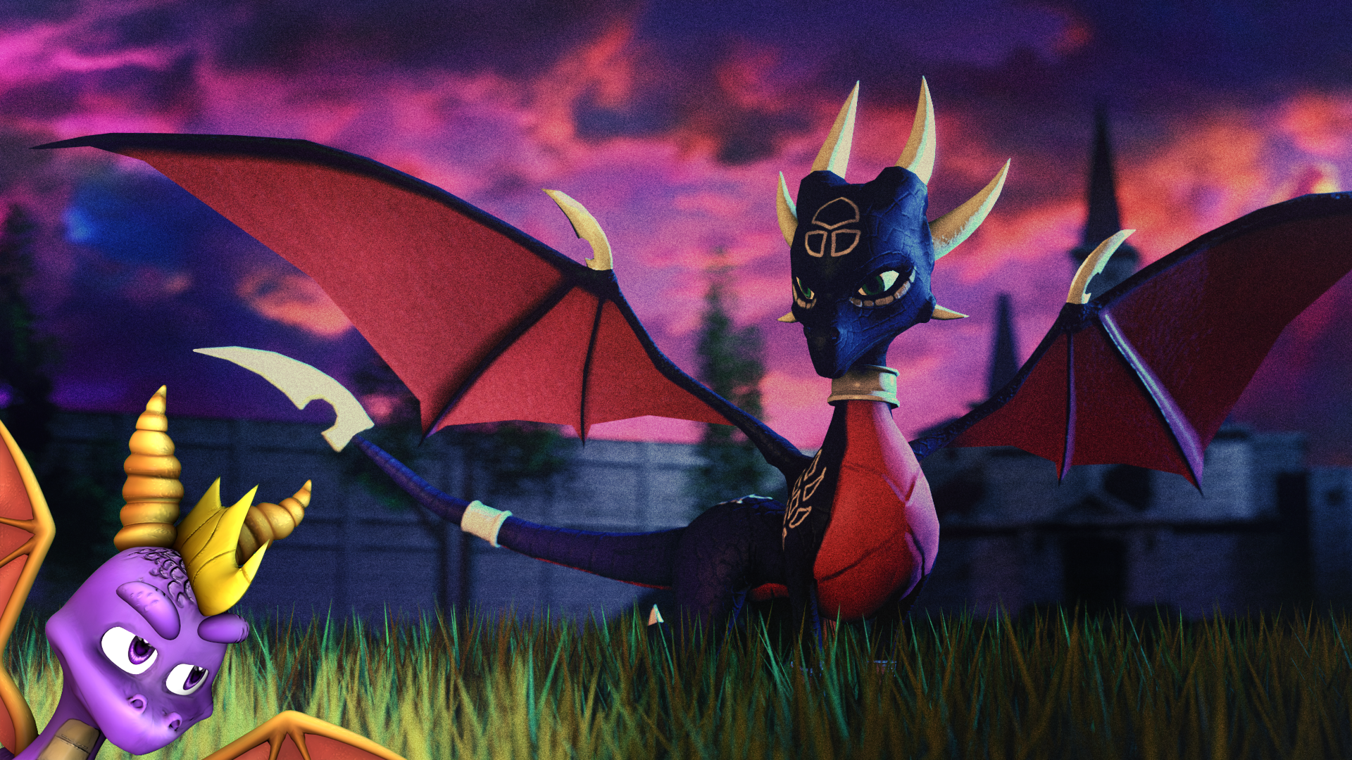 meet the skylanders cynder and spyro