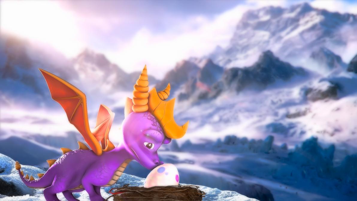 [Spyro] Snowy horizon by ZOomERart