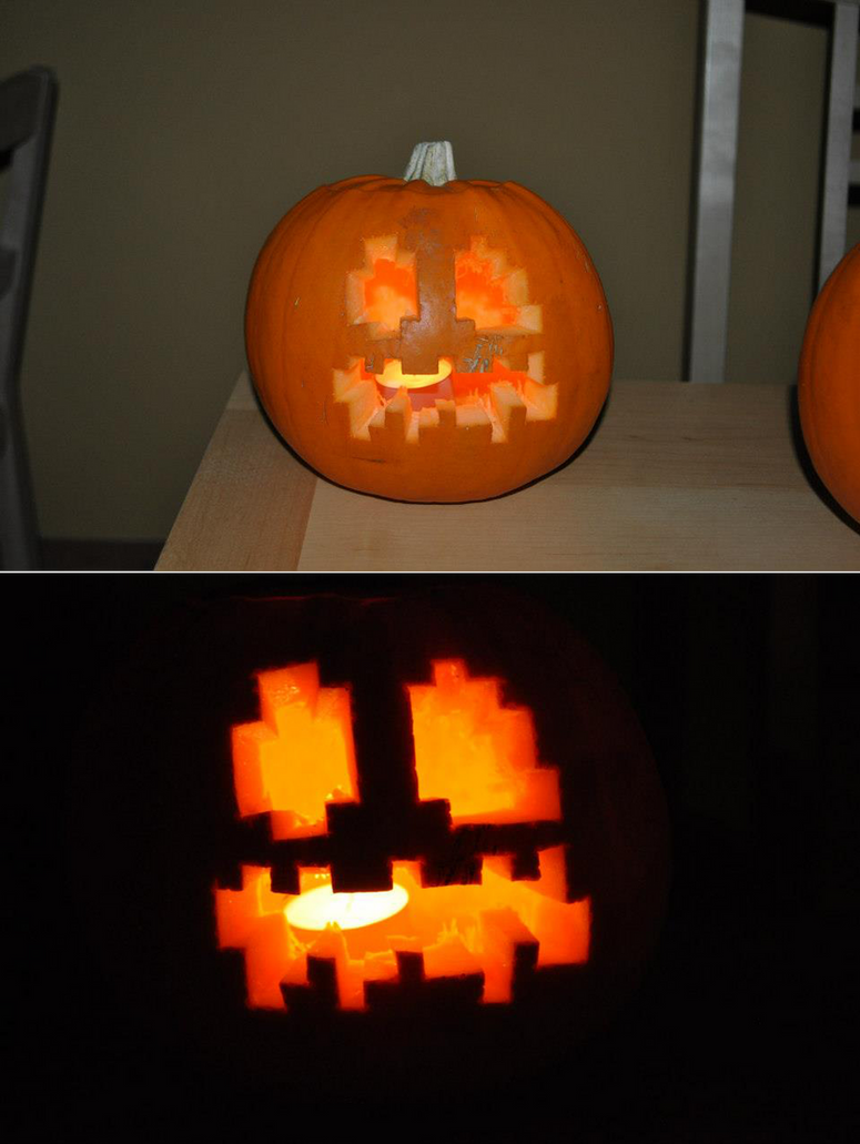 Minecraft pumpkin by steampunk atman on deviantart