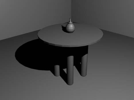 A wip vase on table scene