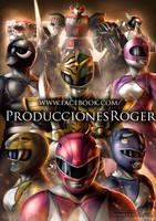 Mighty Morphin Power Rangers FanArt Tribute by RogerGoldstain