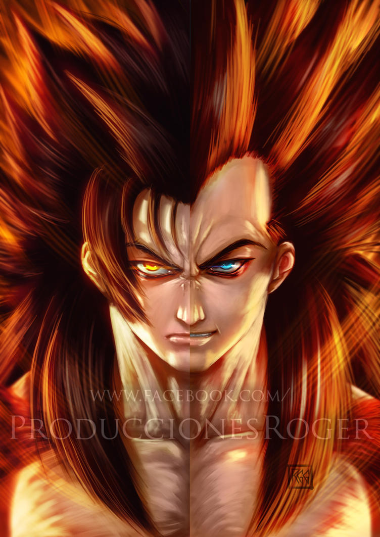 Goku-Vegeta SSJ 4 by RogerGoldstain on DeviantArt