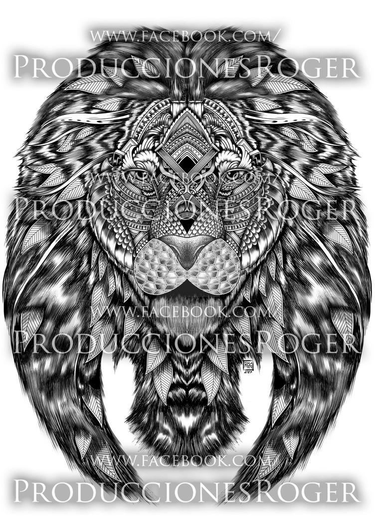 Lion FanArt Commission by RogerGoldstain