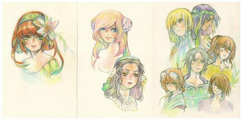Crayons by Merillian