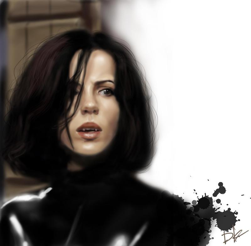 Kate Beckinsale as Selene (Underworld) by DashaKartist on ...