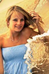 Girl in Fountain II by wstoneburner