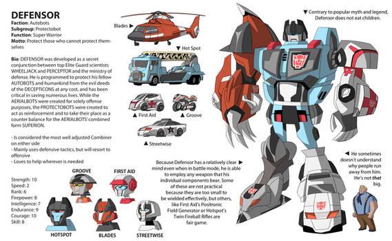TFA Protectobots: DEFENSOR