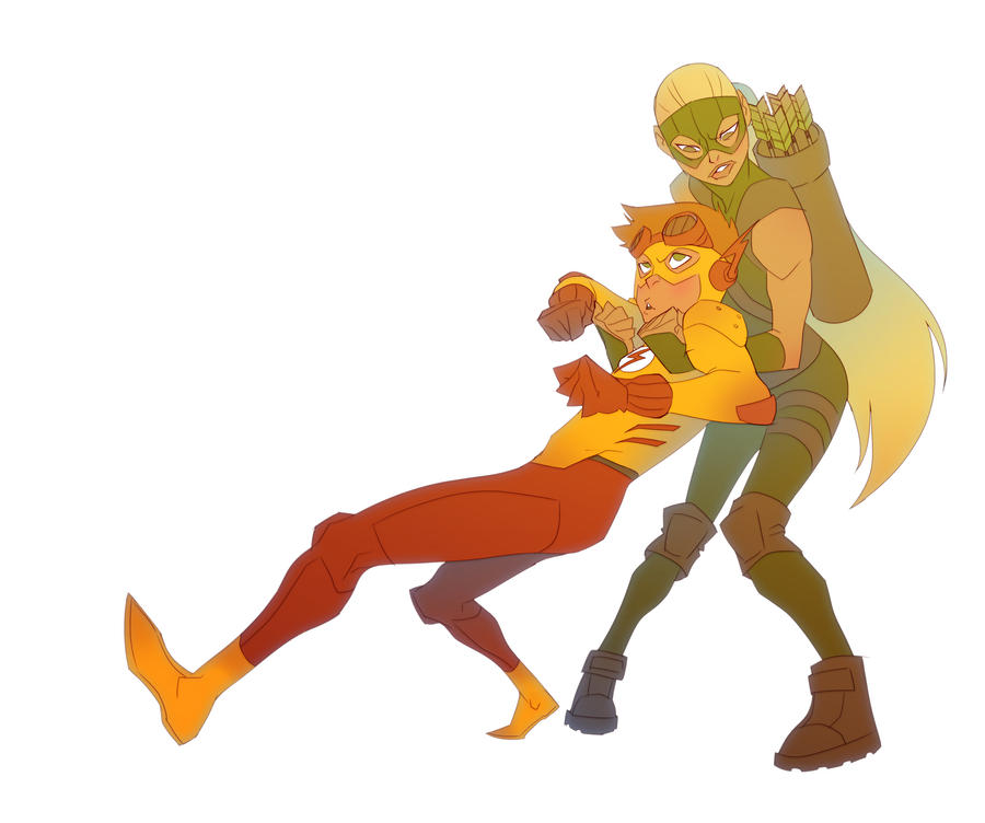 Young Justice +Stuck with you+ by dou-hong