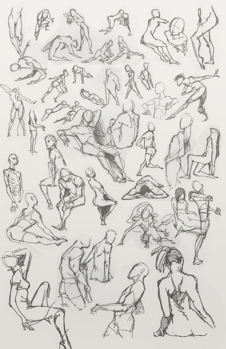 The gallery for --> Figure Drawing Poses Male